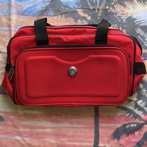 Travelers Club Duffel Red Travel Bag Carry On